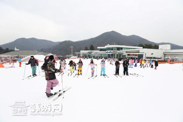 韩国京畿道芝山滑雪场_韩国景点_韩游网