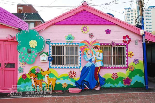 童话村壁画