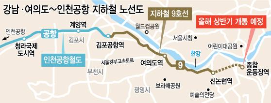 乘坐地铁从首尔江南直达仁川国际机场有望2-3年后