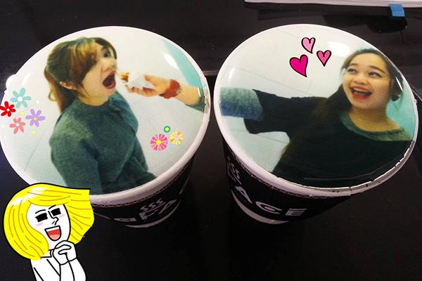 韩国弘大可以打印照片的caFACE咖啡3