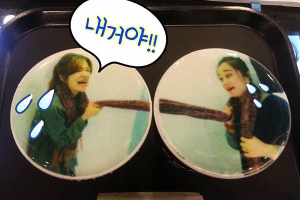 韩国弘大可以打印照片的caFACE咖啡4