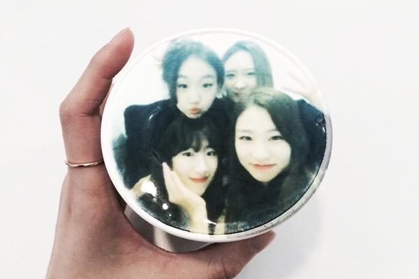 韩国弘大可以打印照片的caFACE咖啡7