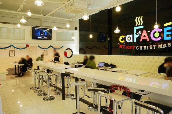 韩国弘大可以打印照片的caFACE咖啡13