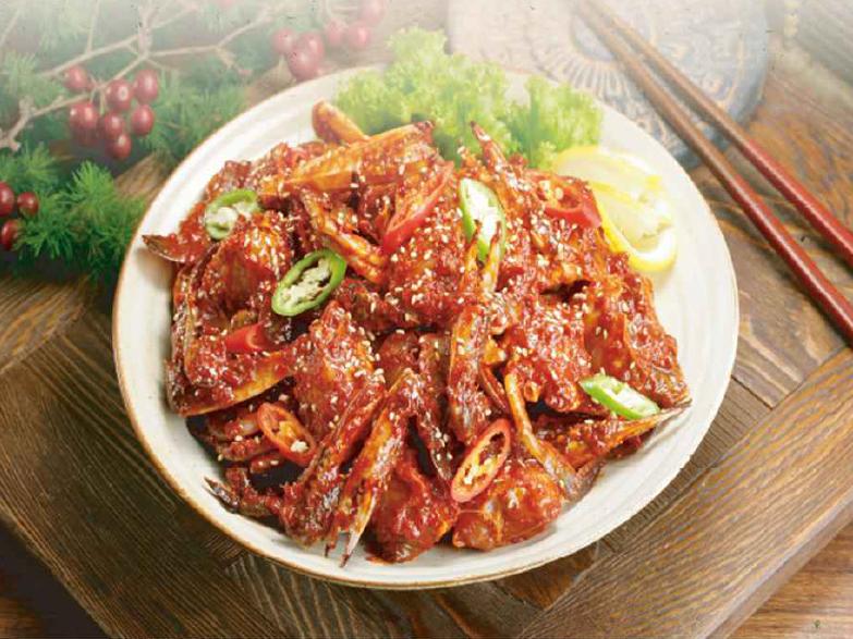 明洞咸草酱蟹韩食店8