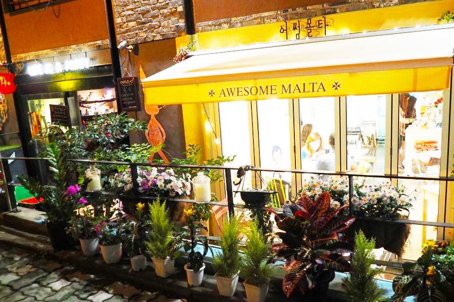 弘大awesome malta 咖啡屋_韩国美食_韩游网