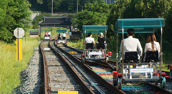 最后让我们感受了铁路自行车的乐趣和大自然的原始风景后,让我们去