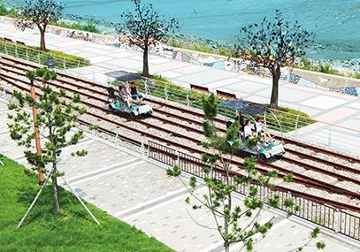 仁川永宗島海邊鐵道自行車_韓國鐵路自行車門票在線預訂-韓遊網