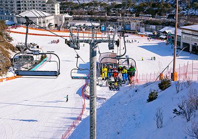 韩国伊利希安江村滑雪场_韩国江原道滑雪场在线预订-韩游网