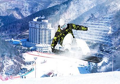 韩国伊利希安江村滑雪场_昭阳江天空步道_韩国江原道滑雪场在线预订-韩游网
