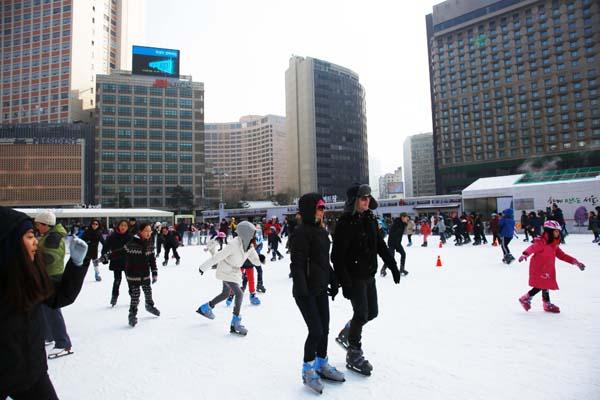 韩国首尔广场冬日图16
