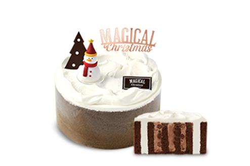 圣诞层层巧克力卷形蛋糕23,000韩元