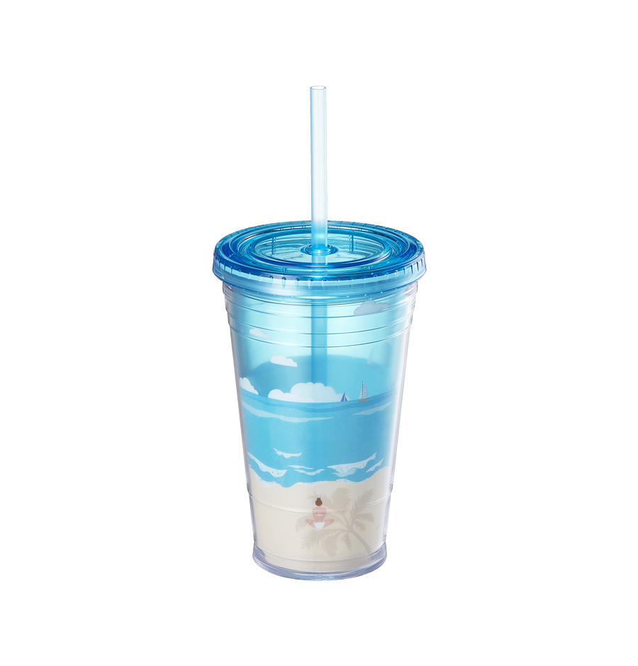 Summer healing beach coldcup tumbler 473ml.jpg