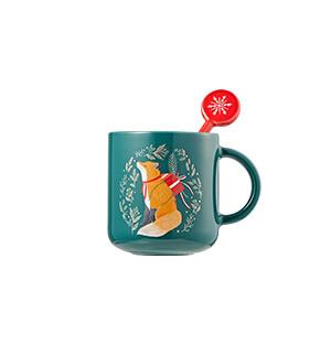 Holiday green fox mug 296ml,15,000韩元.jpg