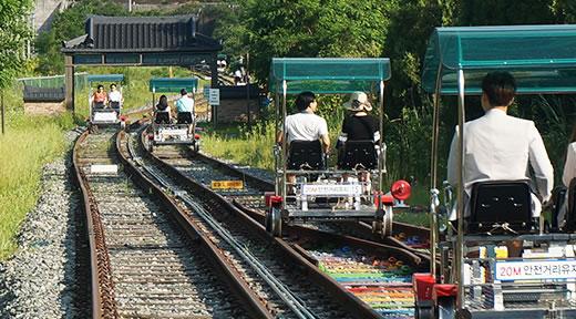 全州韩屋铁路自行车