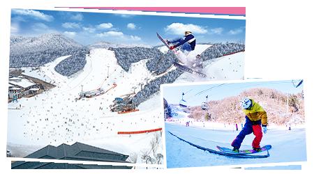 江原道伊利希安江村滑雪场