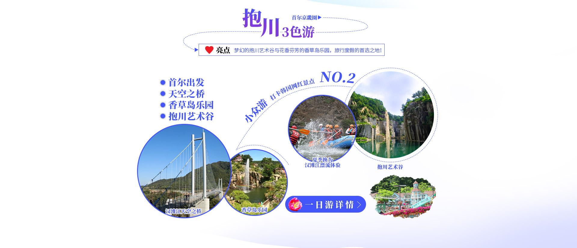 韩国深度游线路推荐,抱川天空之桥,香草岛乐园,艺术谷