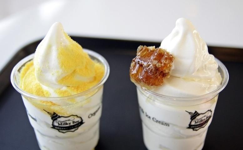 milky bee 玫瑰冰淇淋 明洞本店 1号店_韩国美食_韩游网