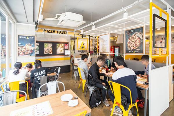 """弘大""""Bbongdderak Pizza""""健康美味披萨店_韩国美食_韩游网"""