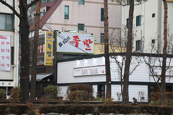 奖忠洞猪蹄一条街_韩国景点_韩游网