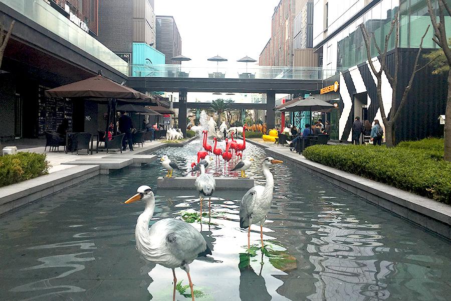 仁川松岛 NC Cube Canal Walk_韩国景点_韩游网
