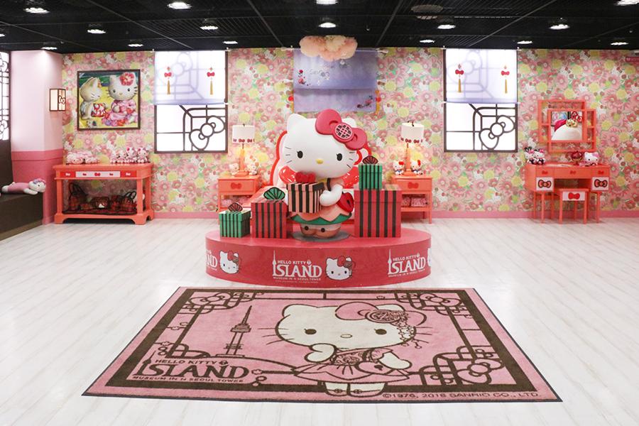"N首尔塔 ""Hello Kitty Island""展馆_韩国景点_韩游网"