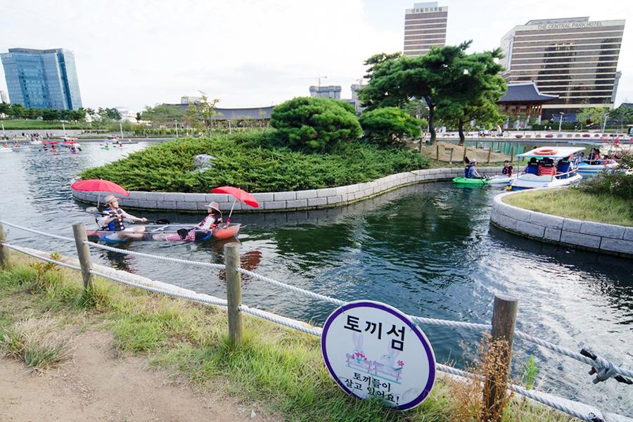 仁川松岛中央公园_韩国景点_韩游网