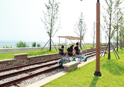 仁川永宗岛海边铁道自行车_韩国景点_韩游网